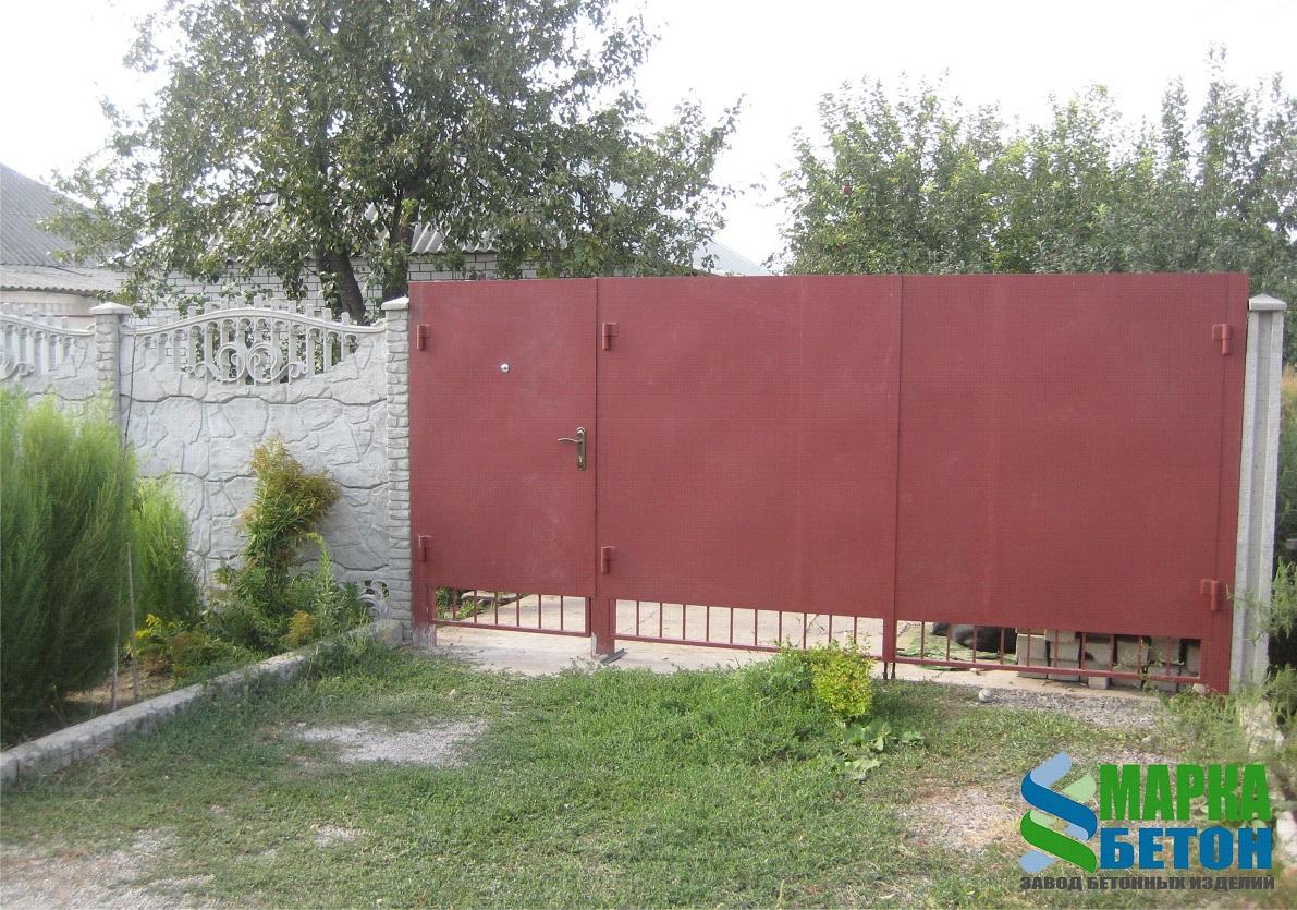 ворота с калиткой сбоку